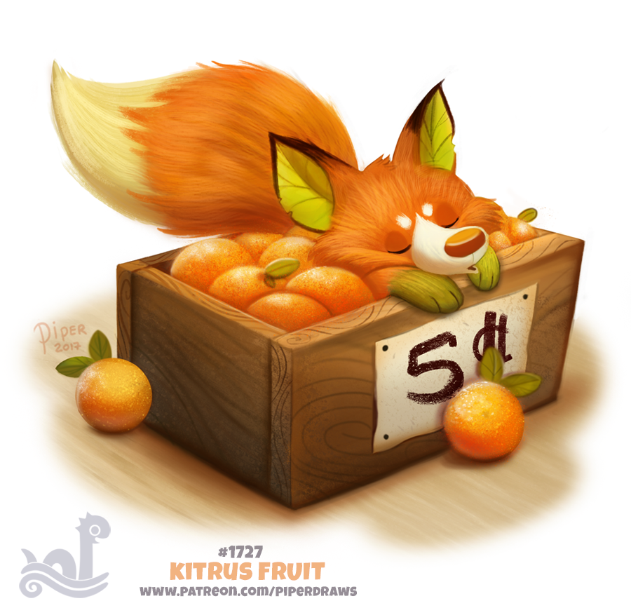 Daily Painting 1727# Kitrus Fruit by Cryptid-Creations