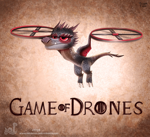 Daily Painting 1729# Game of Drones