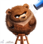 Daily Painting 1730# Frizzly Bear