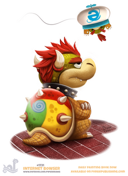 Daily Painting 1731# Internet Bowser