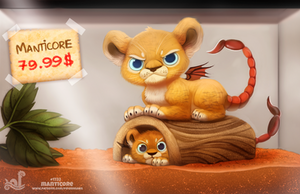 Daily Painting 1732# Monster Shop - Manticore by Cryptid-Creations
