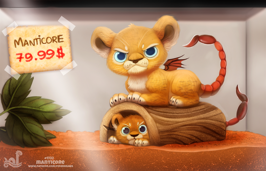 Daily Painting 1732# Monster Shop - Manticore