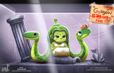 Daily Painting 1733# Monster Shop - Gorgon by Cryptid-Creations