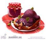 Daily Painting 1738# Blackbeary Jam