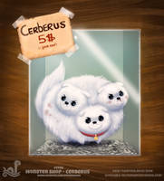 Daily Painting 1740# Monster Shop - Cerberus