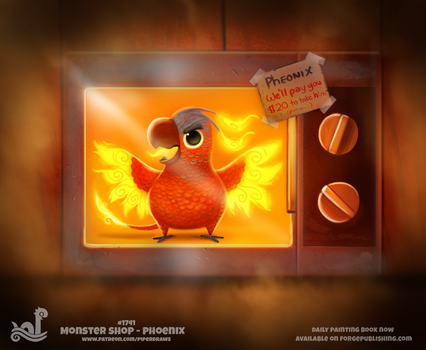 Daily Painting 1741# Monster Shop - Phoenix