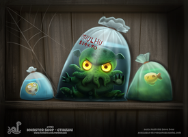 Daily Paint 1742# Monster Shop - Cthulhu