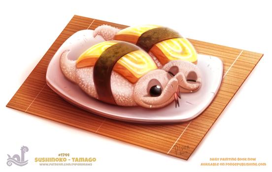 Daily Paint 1743# Sushinoko - Tamago