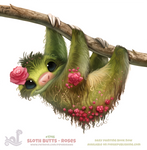 Daily Paint 1746# Sloth Butts - Roses