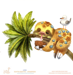 Daily Painting 1749# Sloth Butts - Starfish