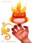 Daily Paint 1751#  Celestatiels - Sunfire