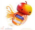 Daily Paint 1753# Apple Jellyfish