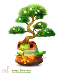 Daily Paint 1754# Bonsai Tree-Frog