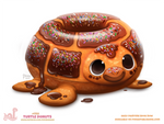 Daily Paint 1755# Turtle Donut
