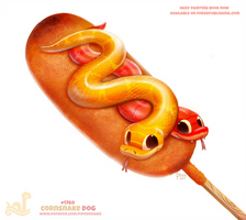 Daily Paint 1760# Cornsnake Dog by Cryptid-Creations