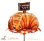 Daily Paint 1762# Slug Croissant