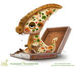 Daily Paint 1763# Pizzasaurus - The Herbivore