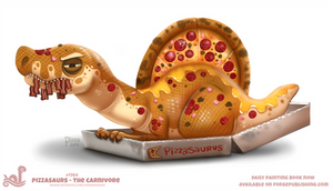 Daily Paint 1764# Pizzasaurus - The Carnivore