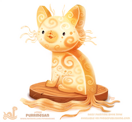 Daily Paint 1768# Purrmesan by Cryptid-Creations