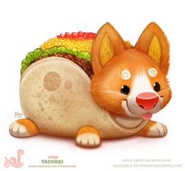 Daily Paint 1769# Tacorigi by Cryptid-Creations