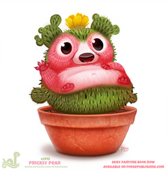 Daily Paint 1772# Prickly Pear