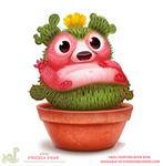 Daily Paint 1772# Prickly Pear by Cryptid-Creations