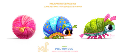 Daily Paint 1774# Pill-ow Bug