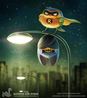 Daily Paint 1778# Batman and Robin