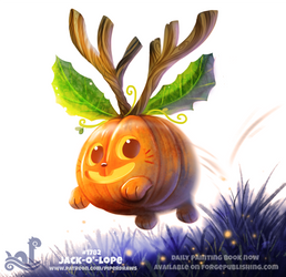 Daily Paint 1782# Jack-O'-Lope by Cryptid-Creations