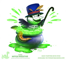 Daily Paint 1784# Witch Ducktor by Cryptid-Creations