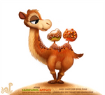 Daily Paint 1785# Camelmel Apples