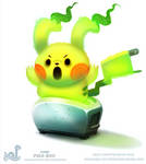 Daily Paint 1787# Pika-boo!