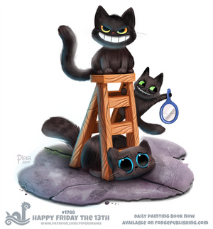 Daily Paint 1788# Happy Friday The 13th