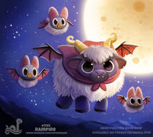 Daily Paint 1792# Rampire by Cryptid-Creations