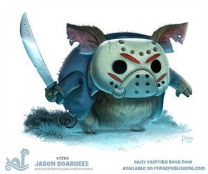 Daily Paint 1794# Jason Boarhees by Cryptid-Creations