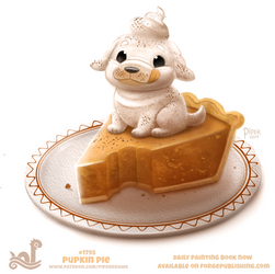 Daily Paint 1795# Pupkin Pie