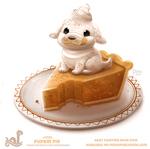Daily Paint 1795# Pupkin Pie