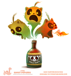 Daily Paint 1796# Ghost Pepurrs by Cryptid-Creations