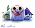 Daily Paint 1797# Trick or Tweet