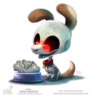 Daily Paint 1798# Bone Appetit