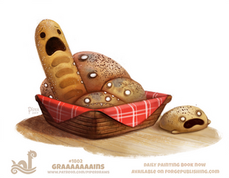 Daily Paint 1802# Graaaains by Cryptid-Creations
