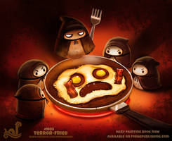 Daily Paint 1803# Terror-fried