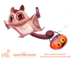 Daily Paint 1804# Sugar High Glider