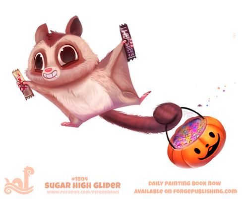Daily Paint 1804# Sugar High Glider