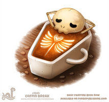 Daily Paint 1805# Coffin Break