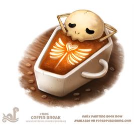Daily Paint 1805# Coffin Break