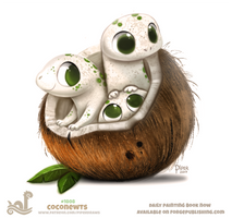 Daily Paint 1808# Coconewts by Cryptid-Creations