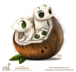 Daily Paint 1808# Coconewts
