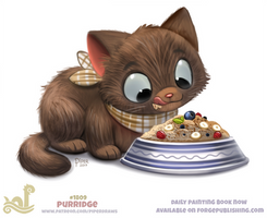 Daily Paint 1809# Purridge by Cryptid-Creations
