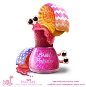 Daily Paint 1811# Snail Polish